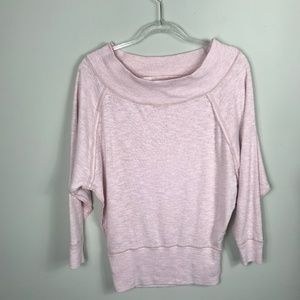 We the Free Free People Oversized Pink Sweater